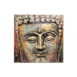 CU-145784 - kép, fa, fém, 80X80X5, buddha