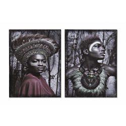 CU-169801 - Kép vászon mdf 40x1,8x50 afrikai 2 féle