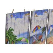 DP-149749 - fali dekoráció, fa,  20X1,6X30, strandos, 3féle