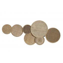 DP-171253 - Dekoráció falra rattan 100x5x45 tányérok természetes