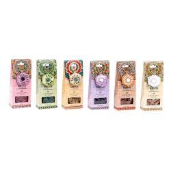 IN-132053 - illatosító kúp szett, 40db-os, fa,  6X4X16, 6aromás