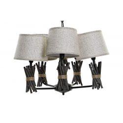LA-179712 - Lámpa mennyezeti fém poliészter 58x58x30 szürke