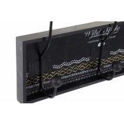 LD-170148 - Akasztó falra mdf fém 45x8x22 cenefa 2 féle