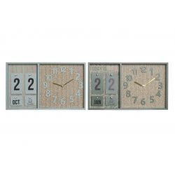 LD-181385 - Óra falra mdf pp 40x5x24 naptár 2 féle