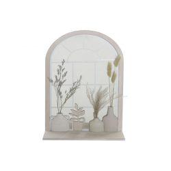 LD-183363 - Tükör mdf tükör 35x10x50 falra virágok fehér