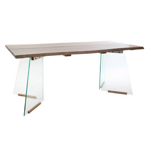 MB-155800 - Asztal Mdf Üveg 180X90X76 Barna