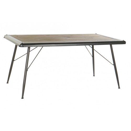 MB-171206 - Asztal ebédlő fenyő fém 161x80x75 szürke