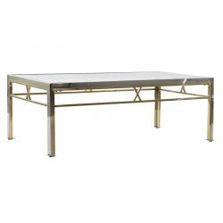 MB-182520 - Asztal kávé-s acél üveg 110x60x40 ezüstözött