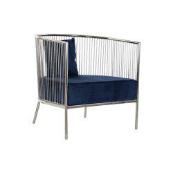 MB-182528 - Fotel acél poliészter 66x69x70 kék tengeri