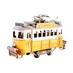 MO-131439 - vonat, dekoráció, fém,  13X5X8 , sárga