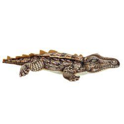 PE-172540 - Plüss akril 46x22x8 krokodil barna