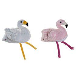 PE-172547 - Plüss poliészter ledes 34x25x27 flamingó 2 féle