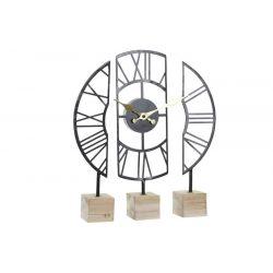RE-180020 - Óra asztali vas mdf 30x6x40 fekete
