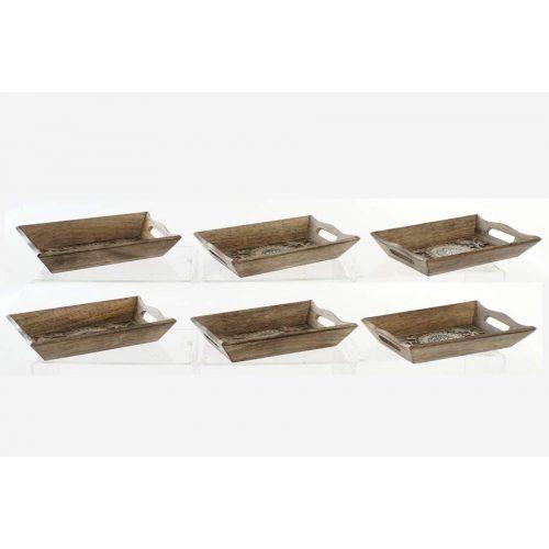 Asztali kínáló mango aluminium 24x15,5x4 6 féle