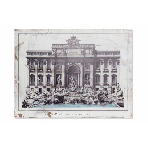 Kép mdf 80x3,5x60 roma klasszikus régies beige