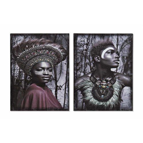 Kép vászon mdf 40x1,8x50 afrikai 2 féle