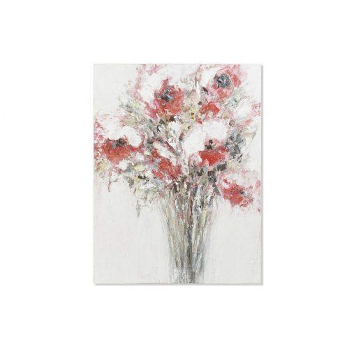 Kép vászon fenyő 90x2,5x120 virágos kézzel festett