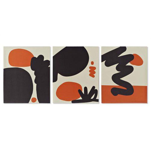 Kép, vászon, mdf, 40x1,8x50, absztrakt, 3, féle