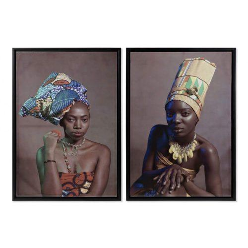 Kép, vászon, ps, 90x3x60, afrikai, lakk, 2, féle