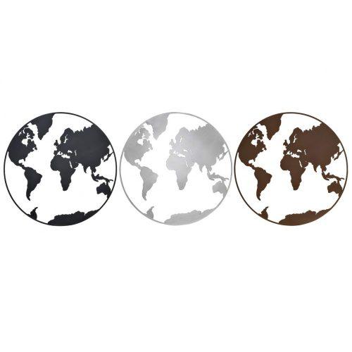 DP-170091 - Dekoráció falra fém 100x1x100 világtérkép 3 féle