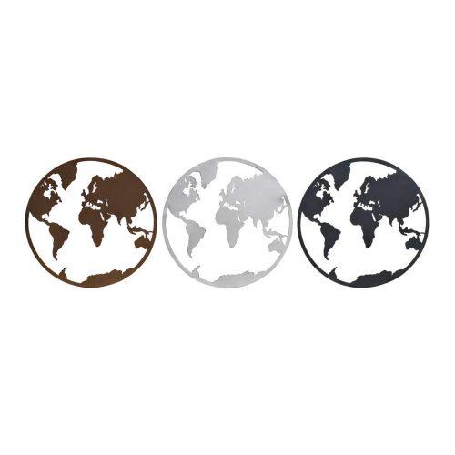 DP-170093 - Dekoráció falra fém 40x1x40 világtérkép 3 féle