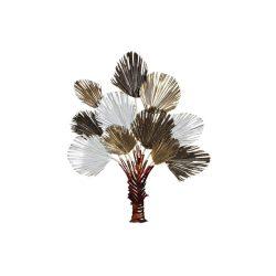 DP-181044 - Dekoráció falra fém 97x8,5x118 csokor virágok