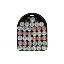 Hűtőmágnes üveg 3,5x3,5x1,5 jungla 12 féle