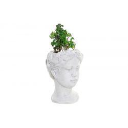 JA-182898 - Növény terrakotta pvc 13,7x13,2x27,5 nő fehér
