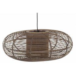 Lámpa mennyezeti bambusz 62x62x23 természetes