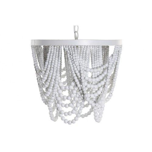 Lámpa mennyezeti fém mdf 35x35x31,5 fehér