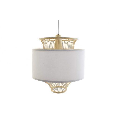 Lámpa, mennyezeti, bambusz, poliészter, 40x40x45