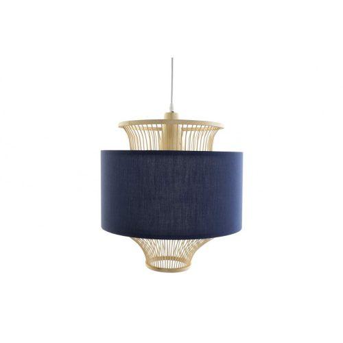 Lámpa, mennyezeti, bambusz, poliészter, 40x40x35, barna
