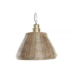LA-182758 - Lámpa mennyezeti fonott fém 45x45x51 barna