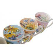 Bögre teás porcelán 12x8x11,5 380ml. virágos 4