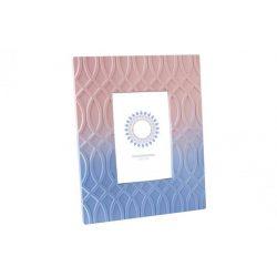 LD-134251 - fényképtartó, fa, 13X18/20X25X1 , rózsaszín, kék