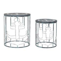 LM-181732 - Asztal telefonos szett 2db-os fém 50x50x60 kék