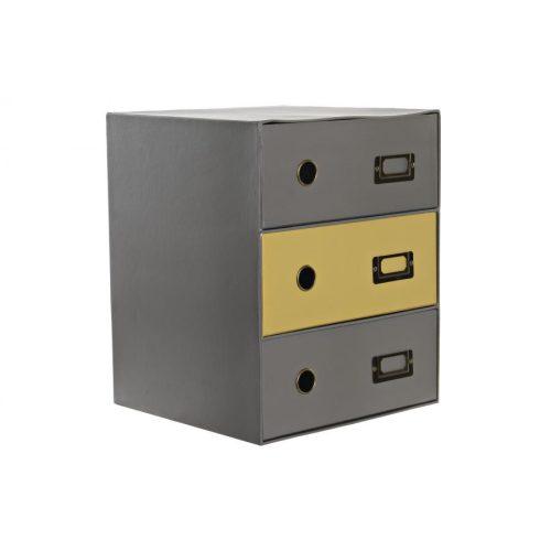 Rendező karton fém 28,6x28,2x35,8 fiókos szekrény