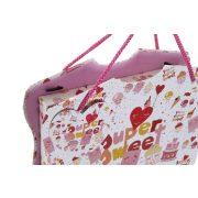 Napló karton papír 23x5,4x18,5 supersweet rózsaszín