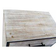 Szekrény fa fém 61x40x103 régies barna
