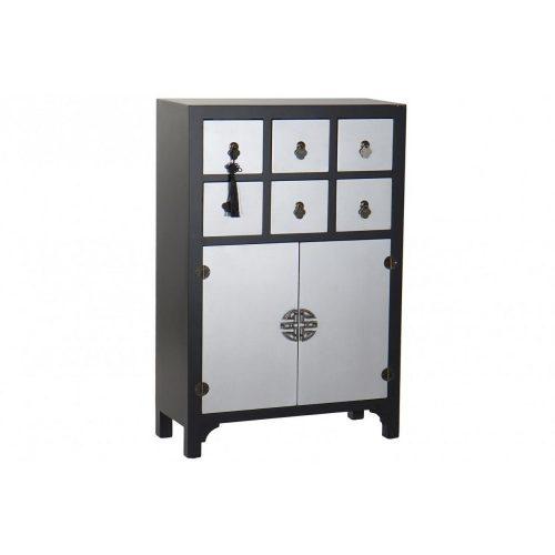 Fiókos szekrény fenyő 63x27x101 keleti fekete