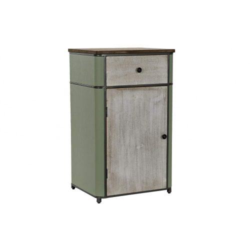 Fiókos szekrény, fém, mdf, 48x40x82,5, zöld