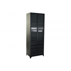 MB-183135 - Vitrin fém üveg 60x40x170