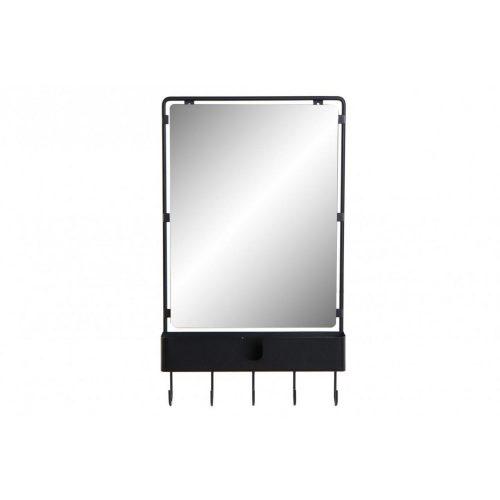 Tükör fém 43x12x72 akasztó fekete