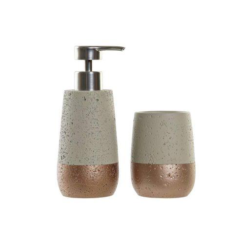 Fürdőszobai szett 2db-os cement 9x8,5x19