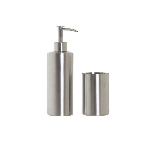 Fürdőszobai szett 2db-os acél 18x22x8 ezüstözött