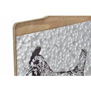 Akasztó falra fa fém 30x5x54 2féle