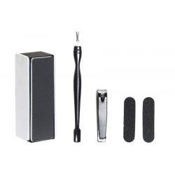 RC-181641 - Ajándék szett 7db-os üveg fém 8,5x8,5x13,5 manikűr