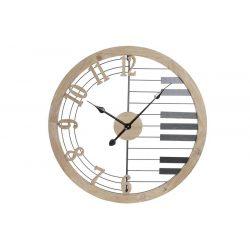 RE-180011 - Óra falra vas mdf 60x4x60 zongora fekete