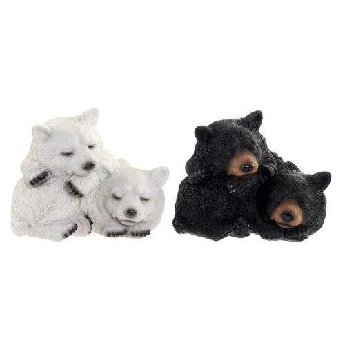 Figura műgyanta 14,5x14,5x11 medvék 2 féle